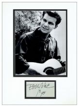 Bobby Vee Autograph Signed Display